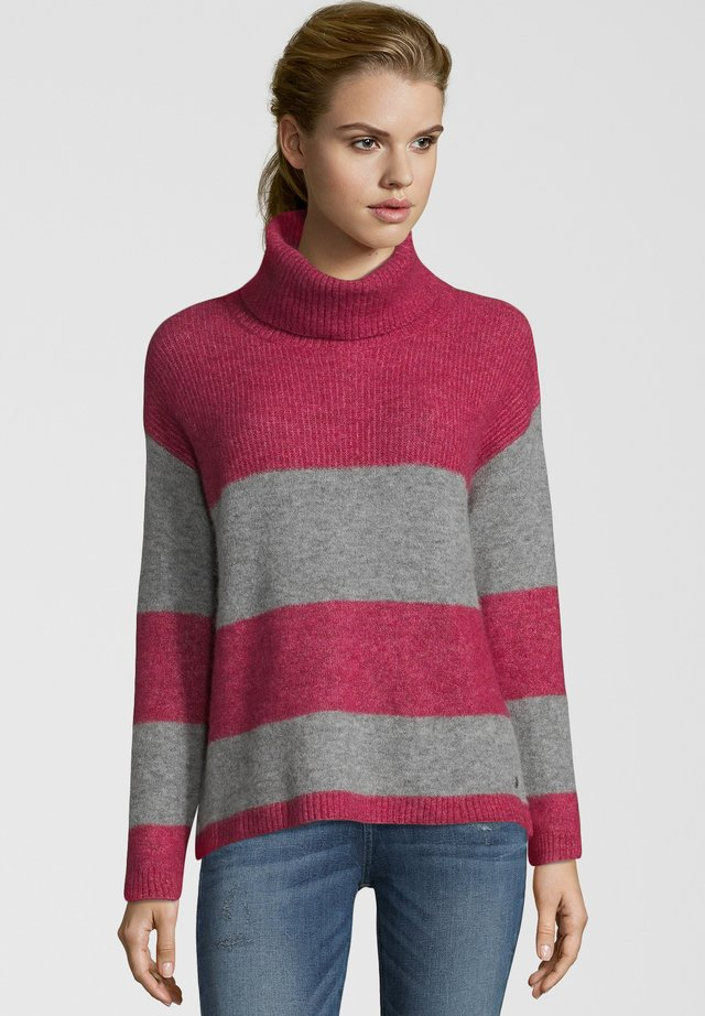 Pullover - red/grey