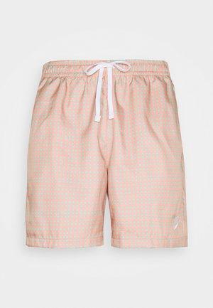 FLOW GRID - Shorts - crimson bliss/white