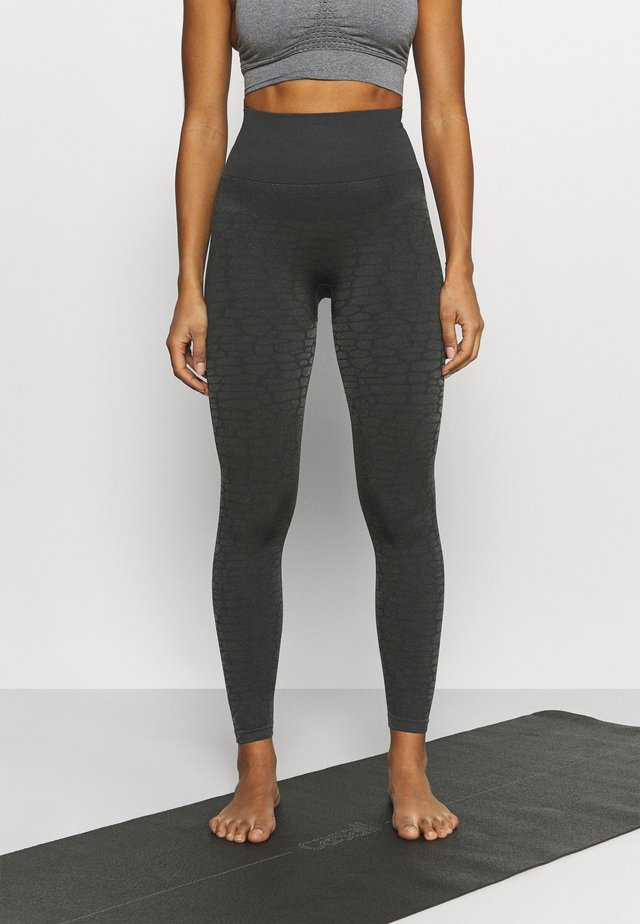 SHINY ALLIGATOR SEAMLESS - Leggings - shadow grey