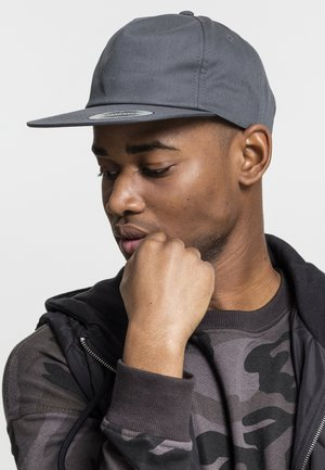 UNSTRUCTURED 5-PANEL SNAPBACK - Cap - charcoal