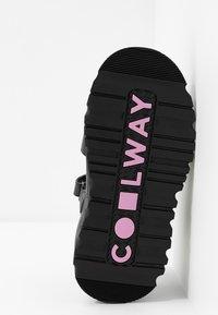 Coolway - GRAVITY - Platform sandals - black - 6