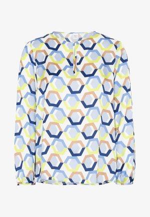 Blouse - blue/white/neon yellow