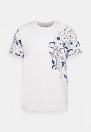 JPRDEEP TEE CREW NECK - Print T-shirt - glacier gray
