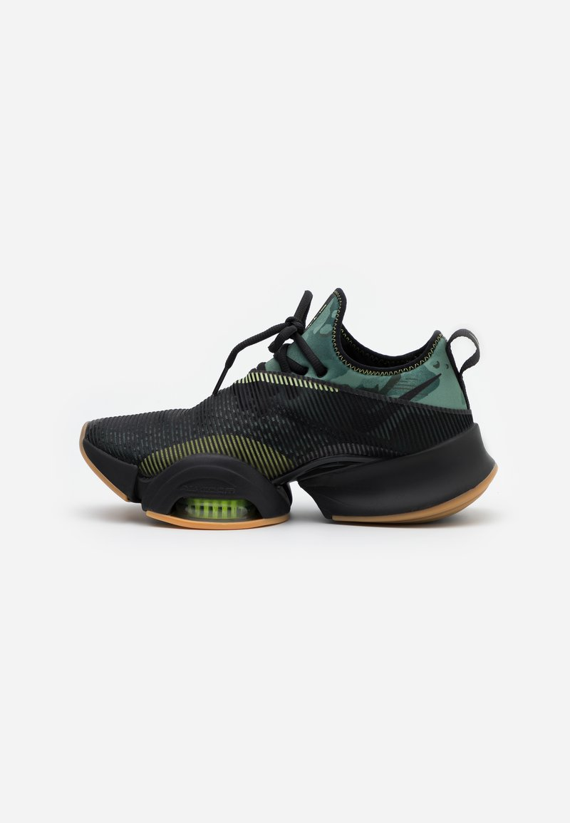 Nike Performance - AIR ZOOM SUPERREP UNISEX - Sports shoes - black/spiral sage/limelight