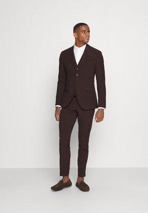 THE FASHION SUIT 3 PIECE - Kostym - bordeaux