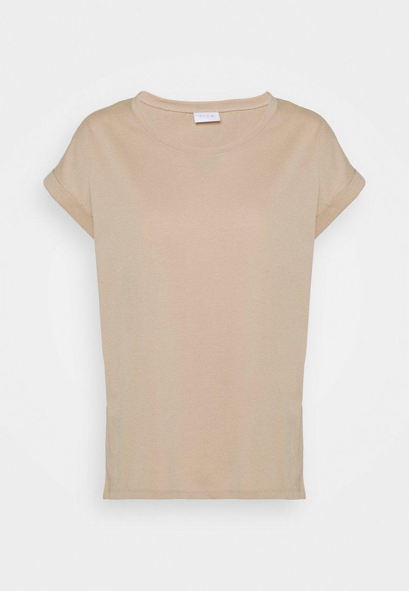 Vila - VIDREAMERS PURE - Jednoduché triko - beige