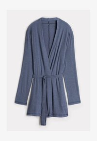 Intimissimi - GERIPPTER MORGENMANTEL AUS MODALMIX - Dressing gown - soft avio mel - 4