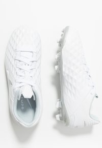 Nike Performance - TIEMPO JR LEGEND 8 ACADEMY FG/MG UNISEX - Moulded stud football boots - white/chrome/pure platinum/metallic silver - 0
