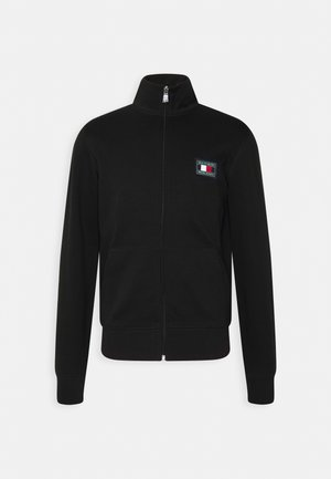 ICON ESSENTIALS ZIP THROUGH - Cardigan - black