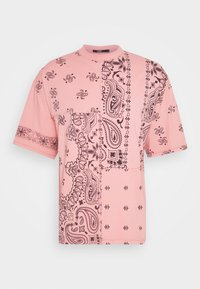Jaded London - CUT AND SEW PAISLEY TEE - T-shirt con stampa - pink - 4