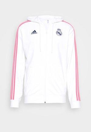 REAL MADRID SPORTS FOOTBALL HOODED JACKET - Klubbkläder - white/dark blue