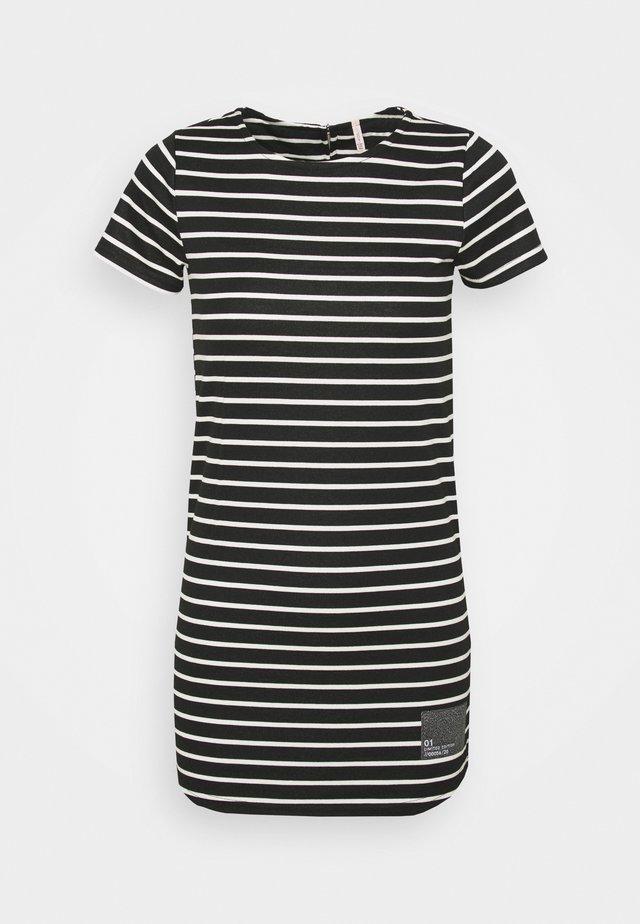 PATCH - Jersey dress - black