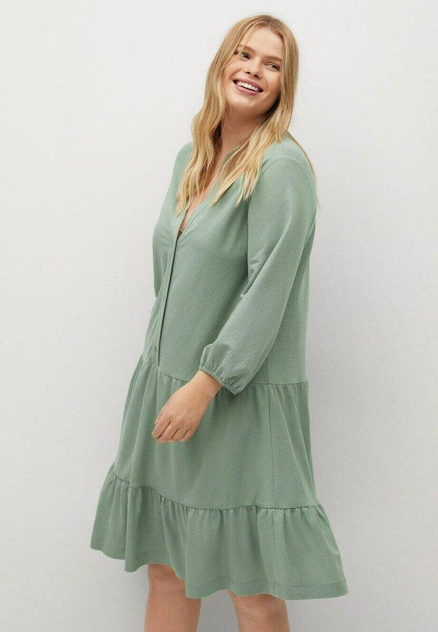 Korte jurk - wassergrün