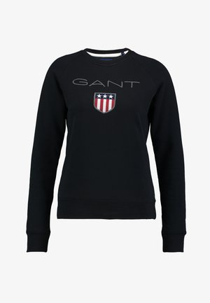 SHIELD LOGO C NECK  - Sweatshirt - black