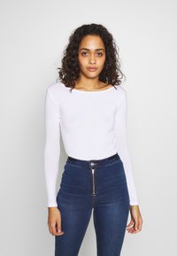 Missguided - LONG SLEEVE LOW BACK 2 PACK - Long sleeved top - white - 3