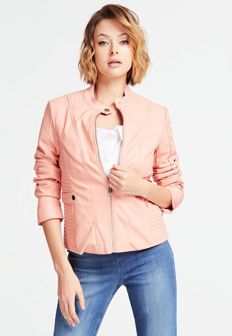 Guess - A$AP ROCKY - Faux leather jacket - rose