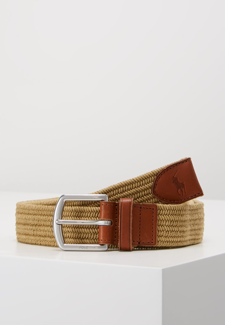 Polo Ralph Lauren - BRAIDED FABRIC STRETCH - Pásek - timber brown