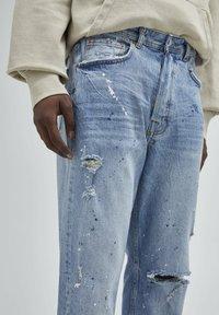 PULL&BEAR - Straight leg jeans - mottled dark blue - 2