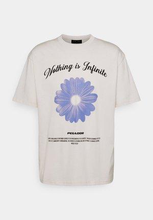 ROGERS TEE UNISEX - T-shirt con stampa - coconut milk