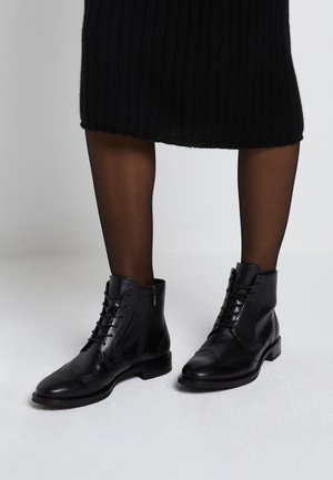 SARTORELLE TAILORED - Bottines à lacets - black