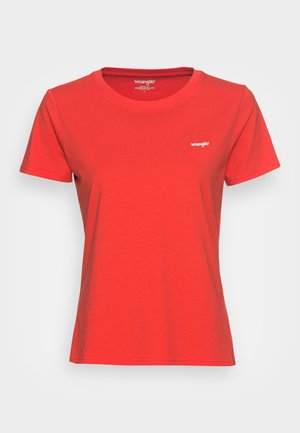 SIGN OFF TEE - Basic T-shirt - poppy red
