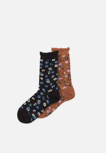 AIYANA MYLA SOCK 2 PACK - Socks - jet black