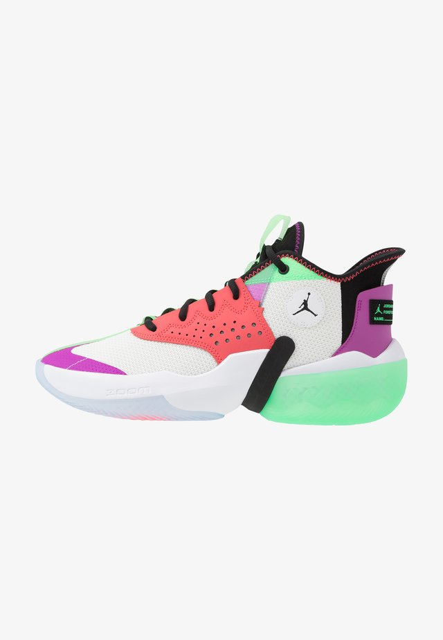 JUMPMAN DIAMOND 2 MID - Obuwie do koszykówki - white/black/hyper violet/flash crimson/electro green