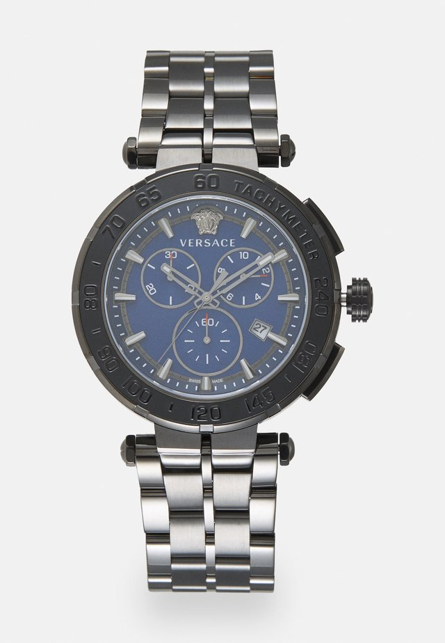 GRECA - Chronograph watch - gunmetal/blue