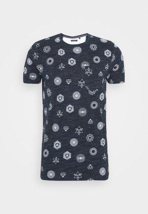 PORTAL - Camiseta estampada - navy/ecru