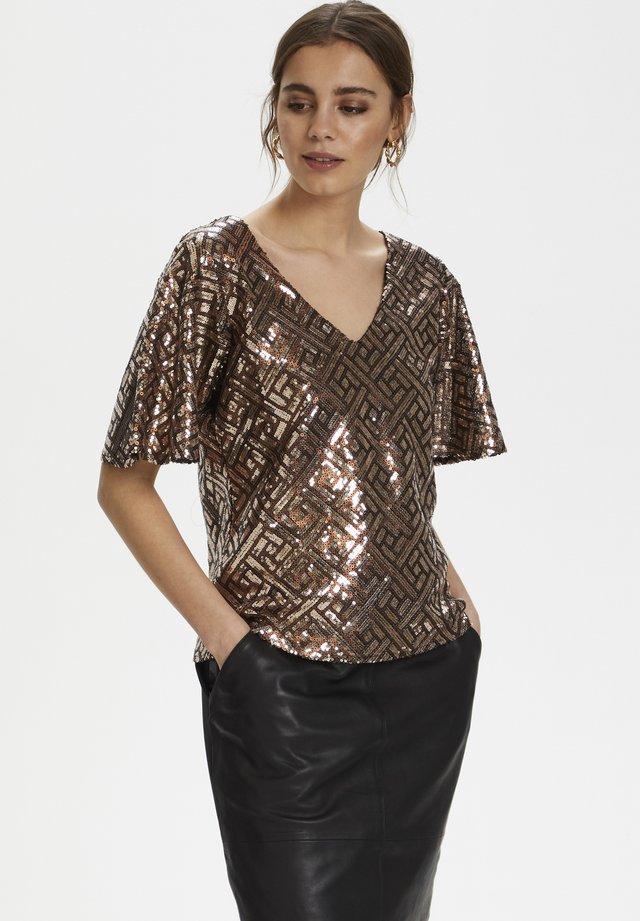 CRPALLITTA  - Bluzka - warm gold sequins