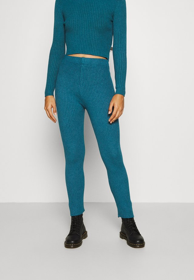 TAJ LOUNGE TROUSERS - Trousers - dark teal blue