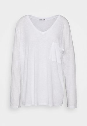 LONG SLEEVES - Long sleeved top - weiss