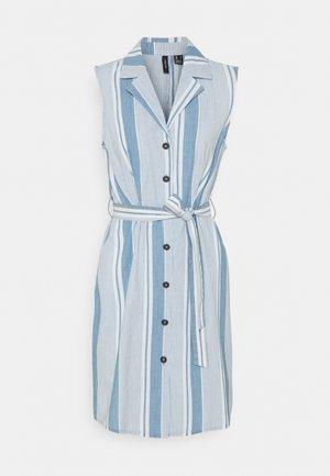 VMAKELASANDY  SHORT DRESS - Denim dress - light blue denim/white