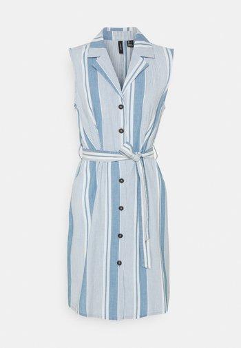 VMAKELASANDY  SHORT DRESS - Vestido vaquero - light blue denim/white