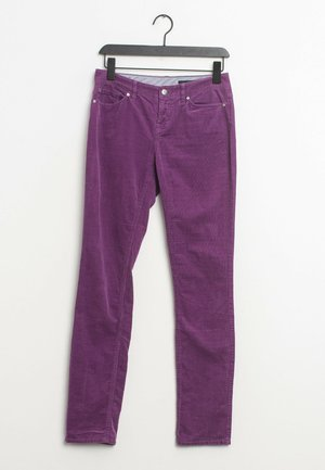 Leather trousers - purple