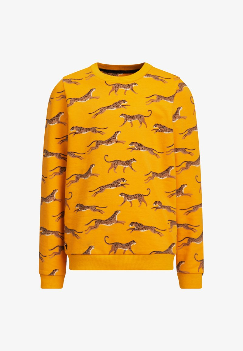 WE Fashion - MET LUIPAARDPRINT - Sweater - ochre yellow