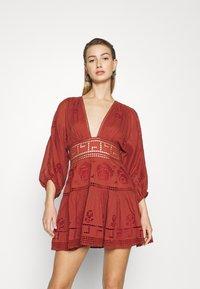 Free People - TEA TIME MINI - Day dress - rust worthy - 0