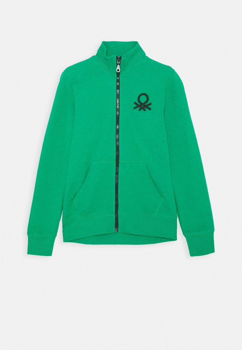 Benetton - Mikina na zip - green