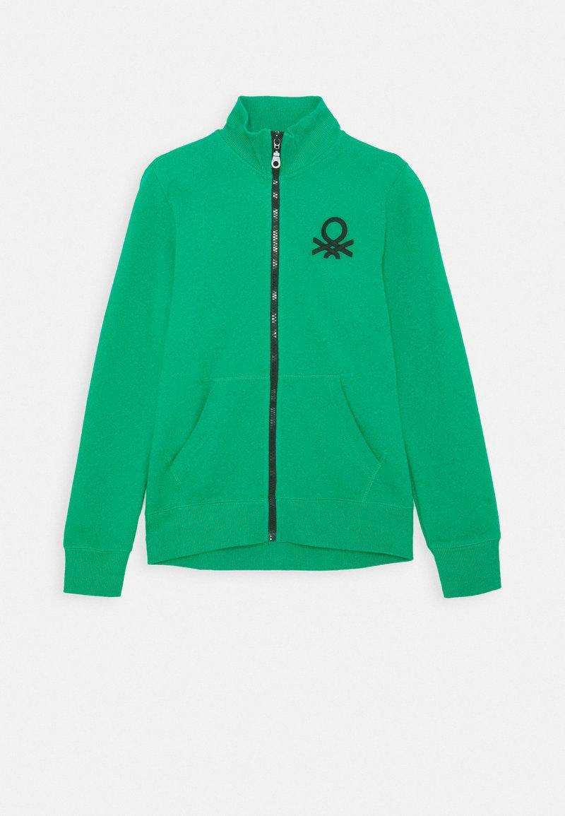 Benetton - Bluza rozpinana - green