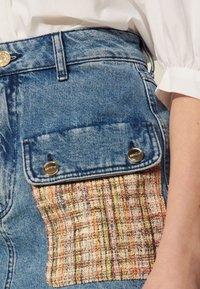sandro - FIORINA - Mini skirt - bleu denim - 4