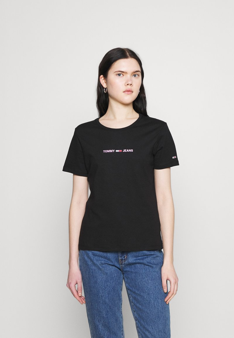 Tommy Jeans - T-shirts med print - black