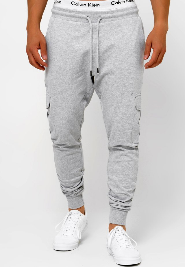 Tracksuit bottoms - lt grey mix