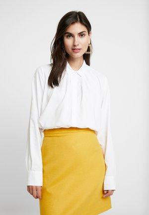 LONG BLOUSE - Button-down blouse - white