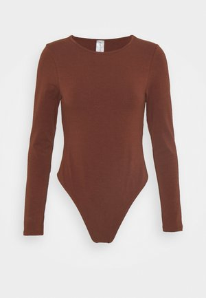 OPEN BACK BODY - Long sleeved top - brown
