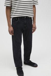 PULL&BEAR - Jeans straight leg - mottled dark grey - 4
