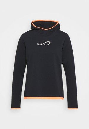 SUDADERA BREATH - Long sleeved top - black/carrot