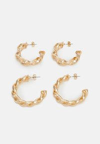 PCTECLA 2 PACK HOOP EARRINGS  - Oorbellen - gold-coloured