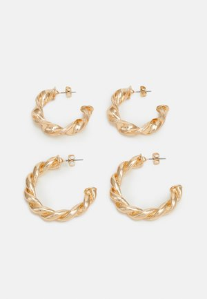 PCTECLA 2 PACK HOOP EARRINGS  - Øreringe - gold-coloured