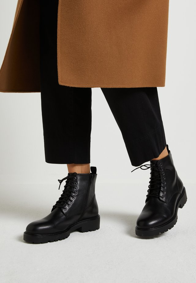 KENOVA - Bottines à lacets - black