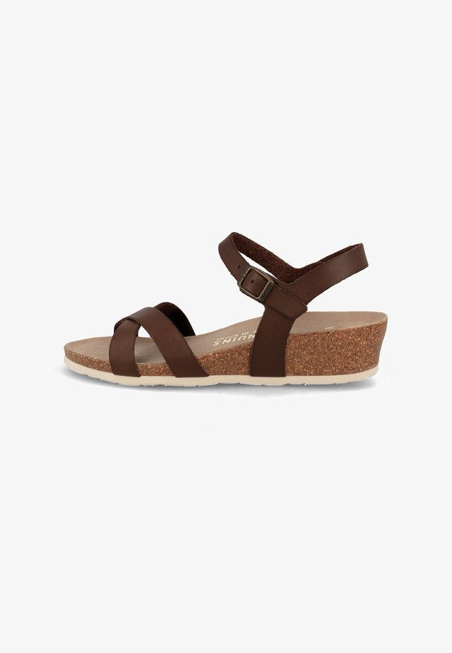 ALYSSA - Wedge sandals - braun